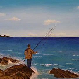 Beata Dagiel - Man Fishing