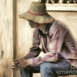 Ted Guhl - Man in the Straw Hat
