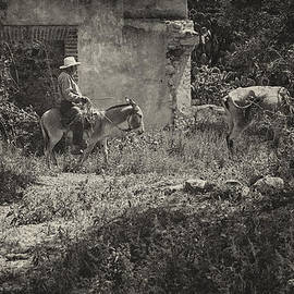 Javier Barras - Man on Donkey in the Campo