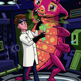 Martin Davey - Manga professor with nice Pink Monster Experiment
