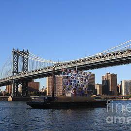 Photographic Art and Design by Dora Sofia Caputo - Manhattan Bridge and Ship of Tolerance