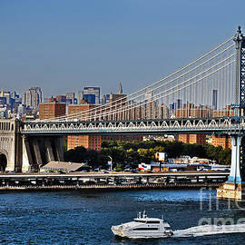 Carlos Alkmin - Manhattan Bridge and Water Taxi