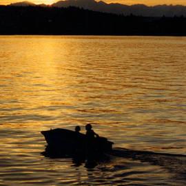 Jack Pumphrey - Manzanita Bay Washington Sunset Cruising
