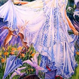 Trudi Doyle - March Bride with Boxing Hares