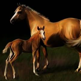 Shere Crossman - Mare and Foal