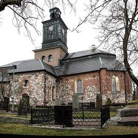 Leif Sohlman - Maria Church Enkoeping from south Leif Sohlman