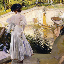 Joaquin Sorolla y Bastida - Maria looking at the Fishes
