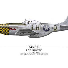 Craig Tinder - Marie P-51 Mustang - White Background