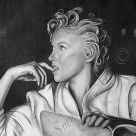 Smudge Art - Marilyn Monroe at Ease