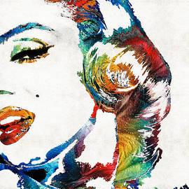 Sharon Cummings - Marilyn Monroe Painting - Bombshell - By Sharon Cummings