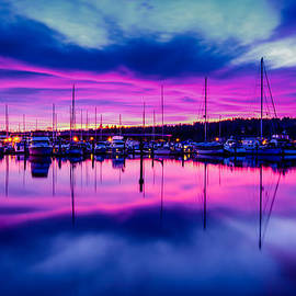 Puget  Exposure - Marina Dockside Sunrise