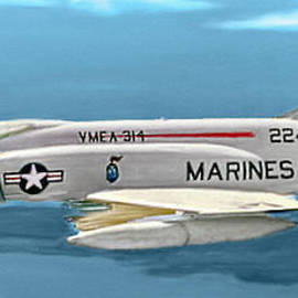 Bob and Nadine Johnston - Marine F-4 Phantom  Painting