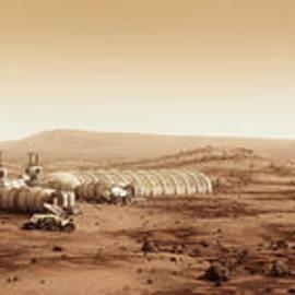 Bryan Versteeg - Mars Settlement Landscape with Farm
