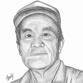 Lew Davis - Marshallese Man With Cap