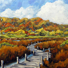 Richard T Pranke - Marshlands in Fall by Prankearts