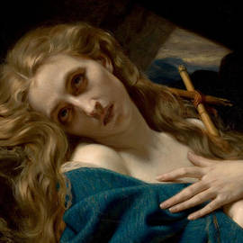 Hugues Merle - Mary Magdalene In The Cave