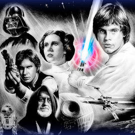 Andrew Read - May the force be with you blue effect