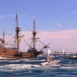 Janice Drew - Mayflower II out to sea