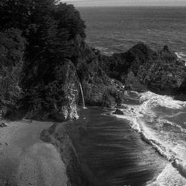 Chris Berry - Mc Vay Falls in monochrome