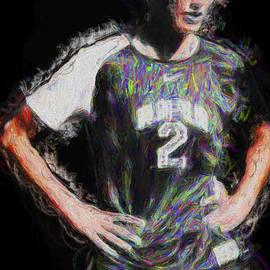 David Haskett - Megan hock IUPUI Painted Digitally Soccer Futbol