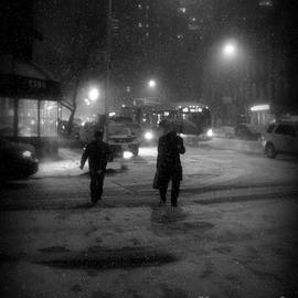 Miriam Danar - Men and Bus in Snow