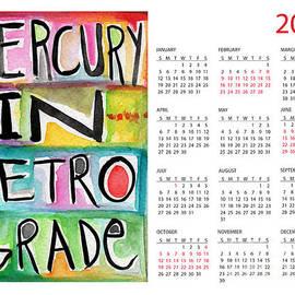 Linda Woods - Mercury In Retrograde Calendar Card