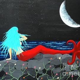 JoNeL Art  - Mermaid Contemplation On Luminous Seas