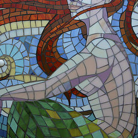 Renee Anderson - Mermaid Multi-Colored Glass Mosaic