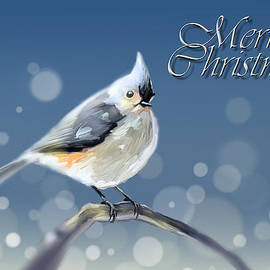 Arie Van der Wijst - Merry Christmas - Tufted Titmouse