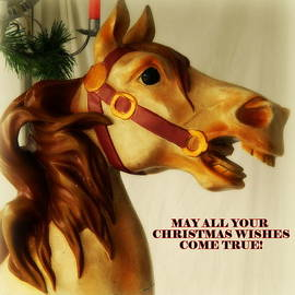 Kathy Barney - Merry Christmas Wishes Horse