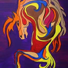 Janice Rae Pariza - Merry Go Round Carousel Horse