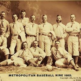 Digital Reproductions - Metropolitan Baseball Nine Team in 1882