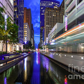 Silvio Ligutti - METRORail Warp Speed on Main Street- Downtown Houston Texas
