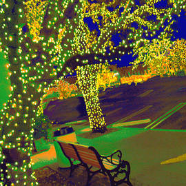ARTography by Pamela  Smale Williams - Midnight Lights At Highland Park Village Texas