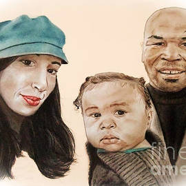 Jim Fitzpatrick - Mike Tyson and Family Altered Version From the One I Gave Him