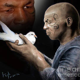 Jim Fitzpatrick - Mike Tyson and Pigeon II