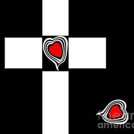 Drinka Mercep - Minimalism Black White Red Art Hearts No.150.