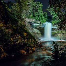 Mark Goodman - Minnehaha Falls at Night