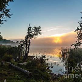 Ismo Raisanen - Misty Summer Morning at the Lake Enajarvi