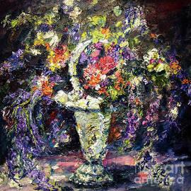 Ginette Callaway - Mona Lavender Flowers from my Garden Still Life