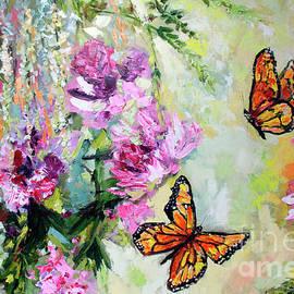 Ginette Fine Art LLC Ginette Callaway - Monarch Butterflies and Peonies