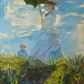 Joseph Hawkins - Monet-Lady with a parasol-joseph hawkins