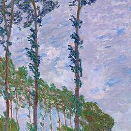 Movie Poster Prints - Monet Wind Effect of the Poplars 1891