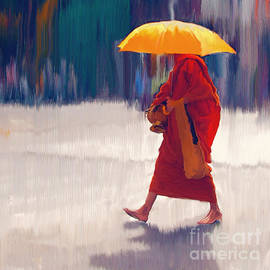 Ted Guhl - Monk in the Rain and Sun