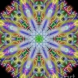 Michael African Visions - Monkey Eye Mandala