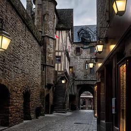 Ann Garrett - Mont Saint Michel Street at Night