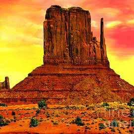 Bob Johnston - Monument Valley Right Mitten Sunrise Painting