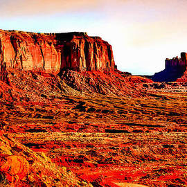 Bob and Nadine Johnston - Monument Valley Sunset by Bob Johnston