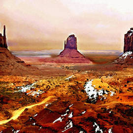 Bob and Nadine Johnston - Monument Valley Winter