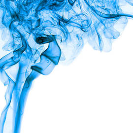 Alexandra K - Abstract Vertical Deep Blue Mood Colored Smoke Art 03